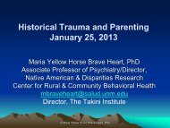 Historical Trauma - National Child Welfare Resource Center for Tribes