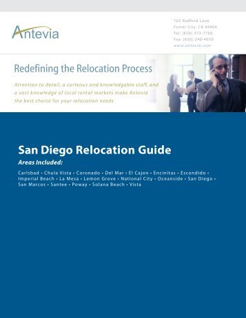 Relocation Guide - San Diego County Cities - Antevia