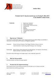 Sektion Rätia Protokoll der 67. Hauptversammlung vom Freitag 01 ...