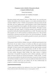 1 Programas sociais voltados à Educação no Brasil ... - Schwartzman