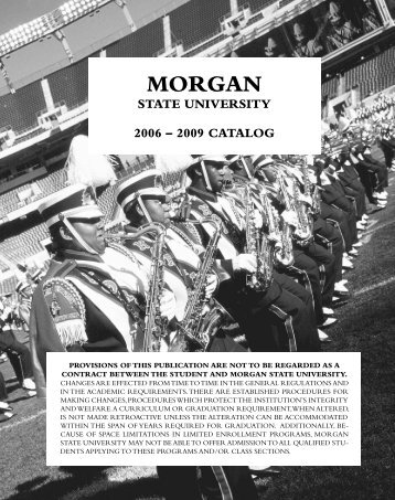 2009 Catalog (PDF) - Morgan State University