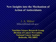 New Insights into the Mechanism of Action of Antioxidants