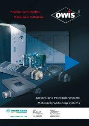 Motorisierte Positioniersysteme Motorized Positioning ... - Laser 2000