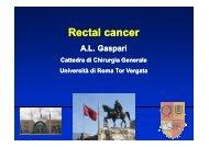 Rectal cancer - Cattedra Chirurgia Tor Vergata