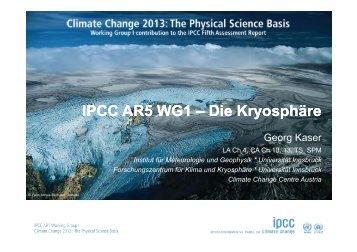 IPCC AR5 WG1 – Die Kryosphäre - Climate Change 2013: The ...