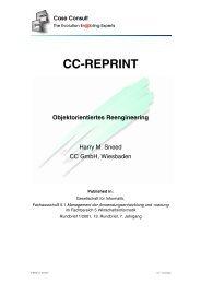 Objektorientiertes Reengineering [97 KB] - CC GmbH