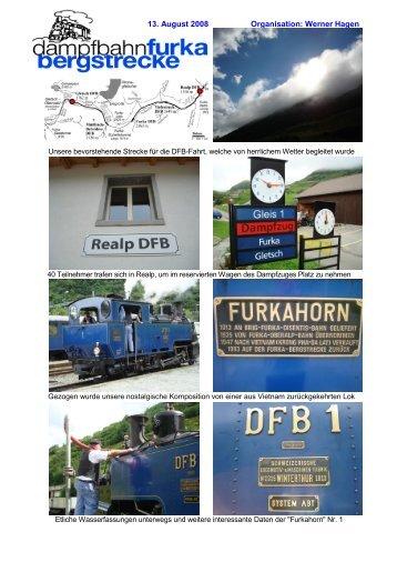 13. August 2008 Organisation: Werner Hagen