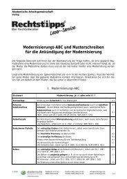 Modernisierungs-ABC und Musterschreiben für die Ankündigung ...
