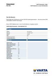 Datenblatt - VARTA Automotive PartnerNet