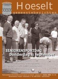 gemeenteberichten van oktober 2003 - Hoeselt.Be