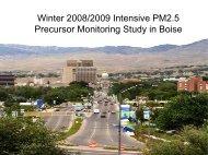PM2.5 study, Boise
