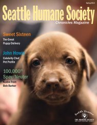 Seattle Humane Society - Spring 2012 Chronicles Magazine