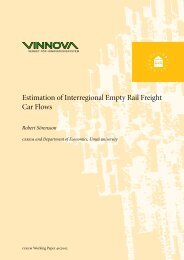 Estimation of Interregional Empty Rail Freight Car Flows - DiVA