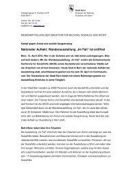 """Nationaler Auftakt: Wanderausstellung """"Im Fall"""" ist eröffnet"""