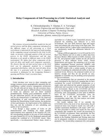 Delay Components of Job Processing in a Grid ... - IEEE Xplore