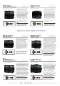 Lens Catalog - Sigma Corporation of America - Page 7