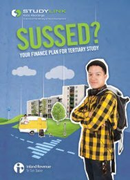 Sussed pocket guide - Your finance plan for tertiary study - StudyLink
