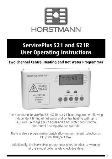 Horstmann 425 range installation instructions serviceplus s21 and s21r user operating instructions horstmann freerunsca Images