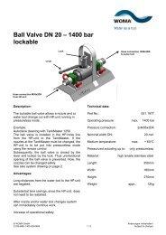 Ball Valve DN 20 – 1400 bar lockable - Woma