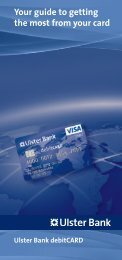 Your guide to getting the most from your card - Ulster Bank
