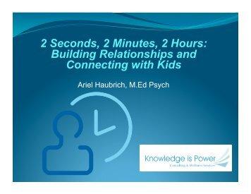2 Seconds, 2 Minutes, 2 Hours - Ever Active Schools
