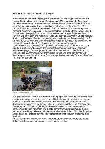 """Diverse Touren in der Region aus der """"Steinzeit"""" des Bikens"""