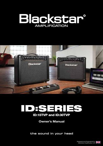 Owner's Manual ID:15TVP and ID:30TVP - Blackstar Amplification