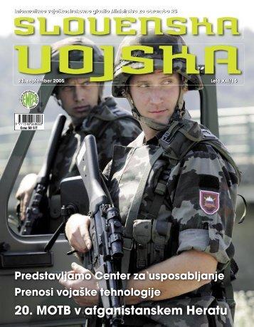 Letnik XIII/15 - Ministrstvo za obrambo