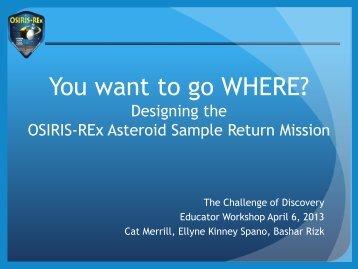 See presentation (PPT) - Discovery Program