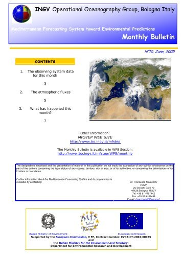 Monthly Bulletin - mfstep - Ingv