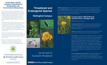 Threatened And Endangered Species - Bristol-Myers Squibb