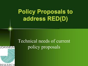 Future policy scenarios: definitions, accounting rules...