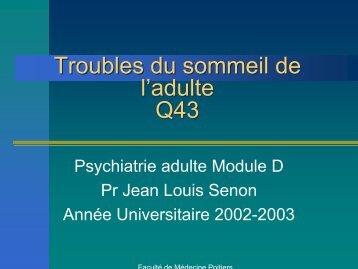 Troubles du sommeil de l'adulte - Psychiatrie Adulte et Psychologie ...