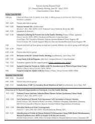 Family Meeting Agenda - Fanconi Anemia Research Fund