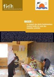 Niger : Le respect des droits fondamentaux comme feuille - Refworld