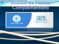 SIPE - Módulo de Planilla complementaria
