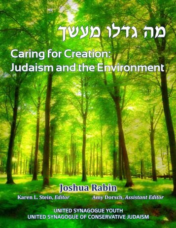 Caring for Creation: Judaism and the Environment - United ...