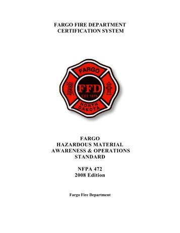 HazMat Awareness and Operations Standard - City of Fargo