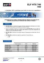 ELF HTX 740 FR - ELF Compétition