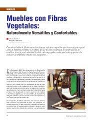 Muebles con Fibras Vegetales: - Revista El Mueble y La Madera