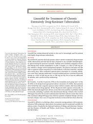 Linezolid for Treatment of Chronic Extensively Drug-Resistant ...