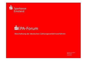 SEPA-Forum - Sparkasse Emsland