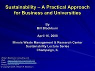 Sustainability - Illinois Sustainable Technology Center