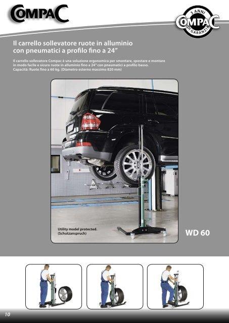 Il carrello sollevatore ruote in alluminio con pneumatici a ... - CompaC