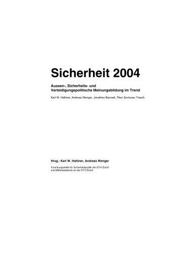 German (PDF) - Center for Security Studies (CSS) - ETH Zürich