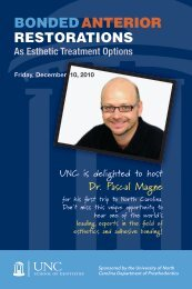 bonded anterior restorations - UNC School of Dentistry - The ...