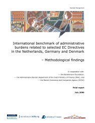 International Benchmark of Administrative Burdens in the ...