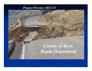 County of Kern Roads Department - Bakersfield Freeways