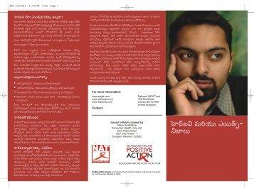 PAAW HIV the facts telugu - ViiV Healthcare