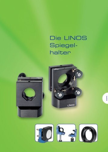 Die LINOS Spiegel- halter - Qioptiq Q-Shop